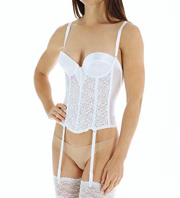 Carnival 337 Backless Tuxedo Bustier (White)