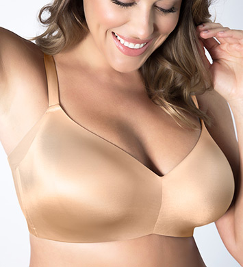 Curvy Couture 1157 Flawless Contour Wire Free T-shirt Bra (Bombshell Nude)