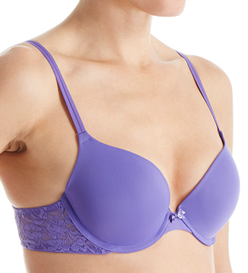DKNY 458000 Signature Lace Perfect Lift Demi Bra (Purple Opulance)