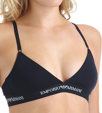 Emporio Armani 63629317 Stretch Cotton Logo Band Triangular Bra (Marine Navy)