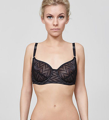 Fortnight 351-14 Vega Full Cup Balconette Bra (Black)