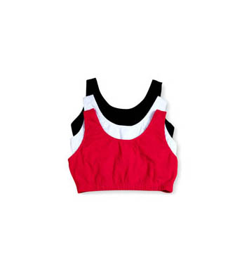 Fruit Of The Loom 9012 Tank Style Sports Bra - 3 Pack (Red/White/Black)