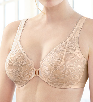 Glamorise 9245 Wonderwire Front Close Bra (Cafe)