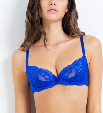 L'Agent by Agent Provocateur L121-11 Rosella Non Padded Plunge Bra (Royal Blue)