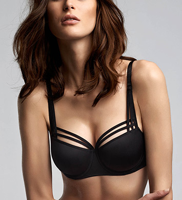 Marlies Dekkers 15420 Dame De Paris Balcony Bra (Black)