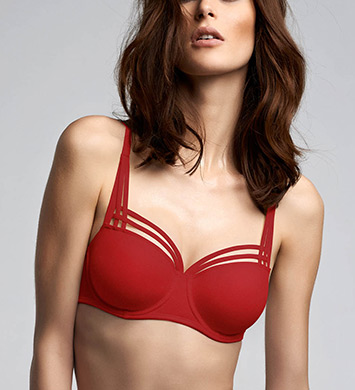 Marlies Dekkers 15420 Dame De Paris Balcony Bra (Red)