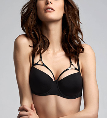 Marlies Dekkers 16290 Triangle Padded Balcony Bra (Black)