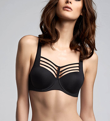 Marlies Dekkers 16800 Leading Strings Padded Balcony Bra (Black)