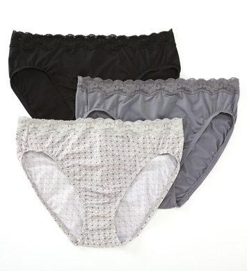 d510e7210cc2 Olga 23067J Without A Stitch Lace Hi-Cut Brief Panty - 3 Pack (Dot