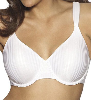 Playtex 4747 Secrets Perfectly Smooth Underwire Bra (White Stripe)