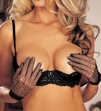 Shirley of Hollywood 20144 Stretch Lace Shelf Bra (Black)