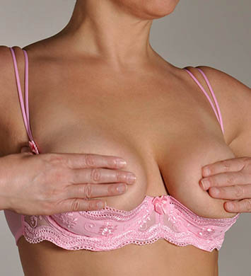 Shirley of Hollywood X331 Plus Size Scalloped Embroidered Shelf Bra (Pink)