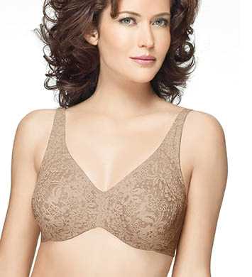 Wacoal 65547 Halo Lace Full Coverage Underwire Bra (Toast)