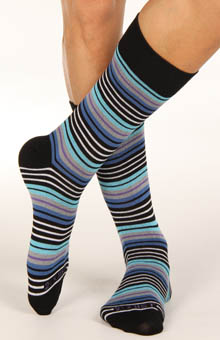 2 Pack Multi Stripe Crew Sock