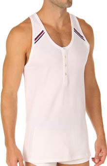 Athletic Range Button Tank Top