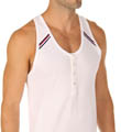 Athletic Range Button Tank Top Image