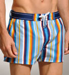 Ibiza Stripe Woven Swim Short