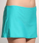 Solid Skirt with Highwaisted Swim Bottom