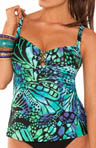 Butterfly Underwire Tankini Swim Top