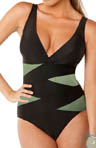 Crisscross Underwire One Piece Swimsuit