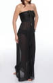 Aerin Rose Solid Bandeau Maxi Dress BLCK502
