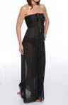 Solid Bandeau Maxi Dress