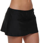 Aerin Rose Solid Tulip Swim Skirt BLCK558