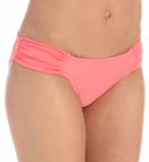 Aerin Rose Coral Side Shirred Swim Bottom CORA42