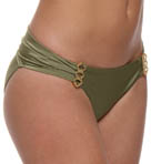 Aerin Rose Gilded Ruched Back Hipster Swim Bottom GILD401