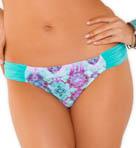 Kaleidoscope Tanga Hipster Shirred Tab Swim Bottom