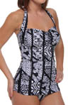 Aerin Rose Niwa Bandeau Halter Underwire One Piece Swimsuit NIWA333