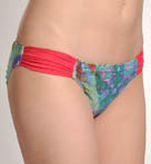 Aerin Rose Parrot Fish Tanga Hipster Shirred Tab Swim Bottom PF402