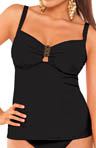 Solid Underwire Tankini Swim Top