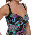 Tangiers Over-Shoulder Underwire Tankini Swim Top Image