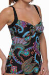 Tangiers Over-Shoulder Underwire Tankini Swim Top