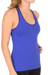 Mesh Back Tank with Shelf Bra Image