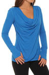 Asana Asymmetrical Drape Long Sleeve Top