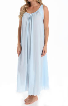 Banded Sleeve Long Gown