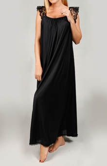 Lace Cap Sleeve Ankle Length Nightgown