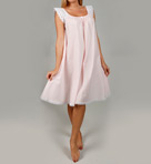 Short Sleeve with Lace Trim Cotton Gown Image