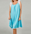 Lace Cap Sleeve Knee Length Nightgown Image