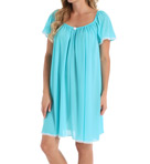 Short Sleeve Knee Length Nightgown Image