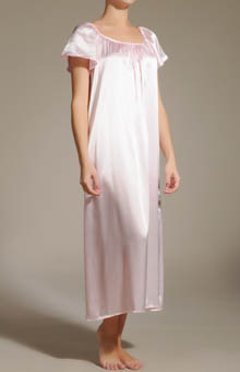 Amanda Rich Charmeuse Short Sleeve Gown