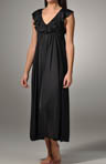 Amanda Rich Long Gown with Ruffle V-Neck AR-121A