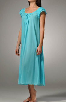 Amanda Rich Long Gown with Petal Sleeve