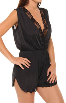 Romper with Lace Trim