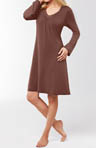 Long Sleeve Trim Night Dress Image