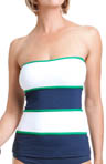 Anne Cole Yacht Club Color Block Bandeau Tankini Swim Top 14MT238