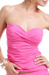 Anne Cole Color Blast Twist Front Bandeau Tankini Swim Top 14MT250