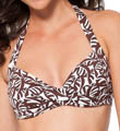 Anne Cole Falling Leaves Twist Front Halter Swim Top 15MT150